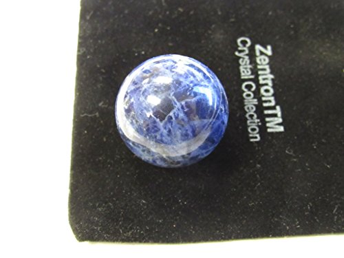 Zentron Crystal Collection: 25 MM Sodalite Sphere with Velvet - And Stone Spheres Crystal