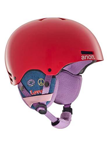 Anon Kids' Rime Helmet, Girl Power Red, Small/Medium (Burton Red Ski Helmet)