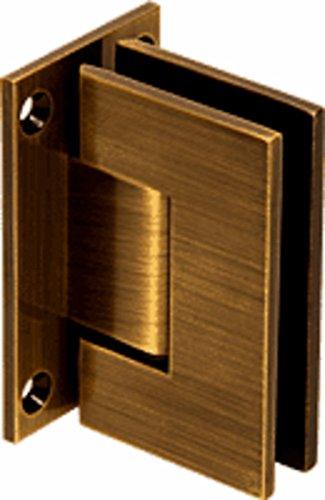 CRL Geneva 037 Series Antique Brass Wall Mount Full Back Plate Standard Hinge ()