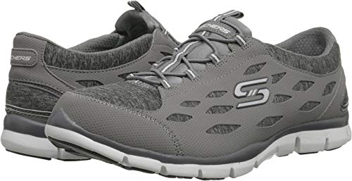 Skechers Sport Women's Gratis Bungee Fashion Sneaker,Grey,7.5 M US