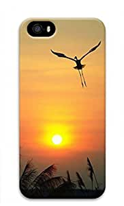 3D PC Case Cover for iPhone 5 Custom Hard Shell Skin for iPhone 5 With Nature Image- Sunset and tercel