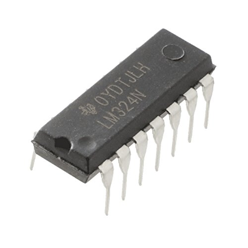 10 Pcs LM324 Quad OpAmp, DIP14 by Tech Express (Quad Operational Amplifier)