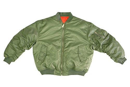 Army Universe Sage Green MA-1 Military Flight Jacket 004c8f44334