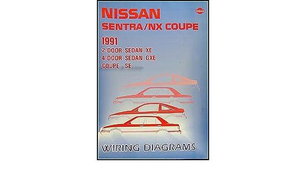 1991 nissan sentra & nx coupe wiring diagram manual original: nissan:  amazon com: books