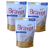 brave brothers - (3 Pack) Bravo Bonus Bites All Natural Grain-Free Freeze Dried Chicken Breast, 3-Ounces each