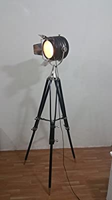 THORINSTRUMENTS (with device) Thor Designer Nautical Searchlight Floor Lamp Style Search Light With Tripod Offfice Decor