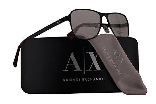 Armani Exchange AX1008 Eyeglasses 55-16-140 Satin Black w/Demo Clear Lens 6014 AX - Armani Lens Clear Glasses