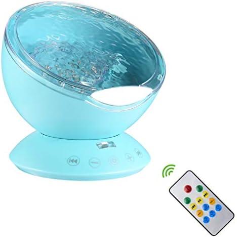 [해외]LEDGLE 프로젝션 램프 프로젝터 LED 빛 바다 프로젝터 빛 인테리어 라이트 테이블 램프 가정 장식 조명 7 색 조명 모드 전환 TF 카드 오디오 기능으로 음악 감상 회전식 리모콘 생일 어린이날 공휴일 편대 증여 / LEDGLE Projection Lamp Projector ...
