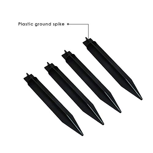 Bebrant Ground Stakes for Solar Torch Light (4 Pack)