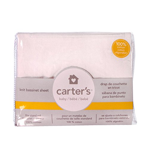 Amazon.com : Carters Jersey Cotton Bassinet Fitted Sheets - White : Baby