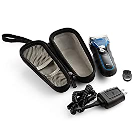 Caseling Hard Case Fits Braun Electric Shaver, Series 3 ProSkin 3040s 3010 340S-4 3050 390CC-4 380S-4 – with Easy Grip…