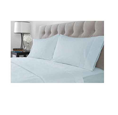 Hotel Style 600 Thread Count Set of 2 Pillowcase Set, Blue Puddle (Puddle Pillow)