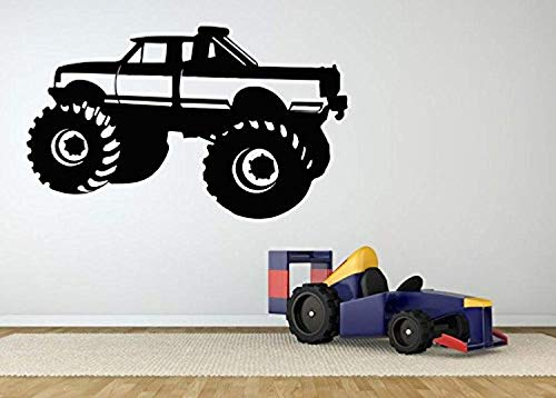 Page Race Poster - AnewDecals Wall Room Decor Art Vinyl Sticker Mural Decal Monster Mud Truck 4X4 Big Wheels Sport Car Race Vehicle Poster Boy Nursery Bedroom MZ2635