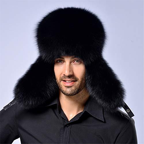 (Ski Cap for Men, Winter Earmuffs Hat, Keep You Warm - Outdoor Warm Russian Ushanka Trapper Hat Skiing Cap Faux Earflap Ear Hats (Black))