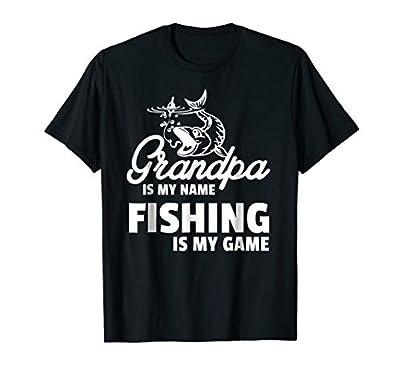 Funny Grandpa Fishing T-Shirt - Fishing is My Game!