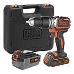 Black+Decker BL188DM2K-QW - Trapano a percussione Brushless senza fili, 18 V, 1,5 Ah, 2 batterie 41ACi XWn8L. SS150