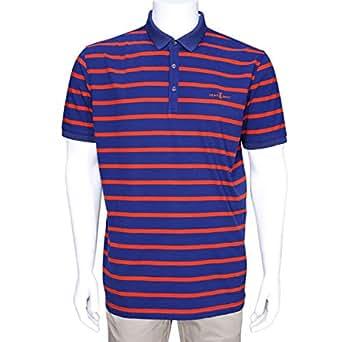 Cavana Multi Color Cotton Round Neck Polo For Men