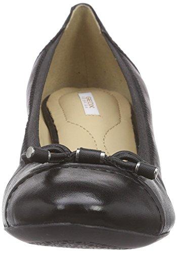 Geox D Floralie A - Zapatos de Tacón Mujer Negro (BLACKC9999)
