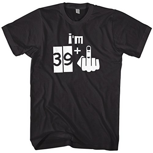 Mixtbrand Men's I'm 39 Plus 1 40th Birthday T-Shirt XL Black]()