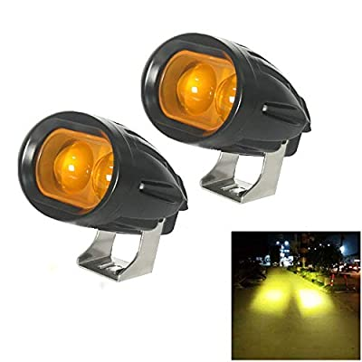20W Led Forklift Safety Light Motorcycle Light 4D Lens Led Truck Lights Heavy Duty LED Work Light Yellow(Pack of 2): Automotive