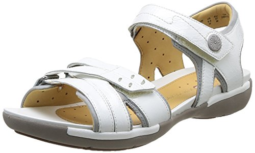 Clarks Un Vasha Damen Sandalen Weiß - Blanc (White Patent)