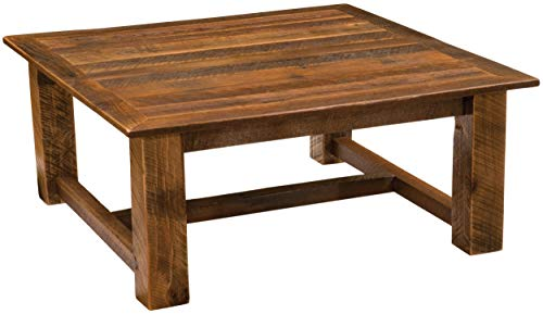 Barnwood Open Square Coffee Table - 34