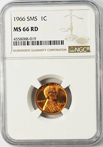 1966 P Lincoln Memorial Cent SMS Philadelphia AZB9 1c MS66 NGC RD