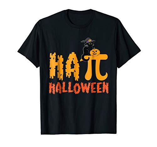Pumpkin Black Cat Witch Tshirt Happy Pi Halloween Math (Witch Black Cat Pumpkin)
