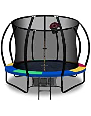 Trampoline 10ft Kids Indoor Outdoor Plum Exercise Trampolines With Enclosure Basketball Hoop Everfit