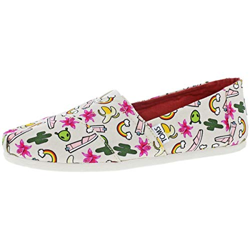 TOMS Womens Classics Birch Multi Rainbows Loafer