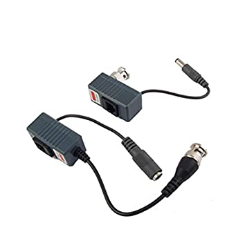 Buwico - Transmisor de vídeo Balun para cámara de vigilancia, de