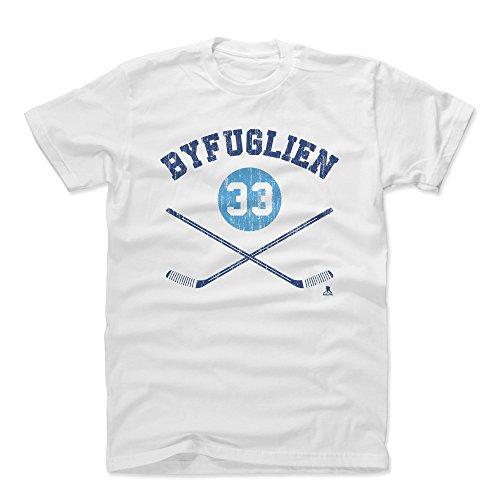 - 500 LEVEL Dustin Byfuglien Cotton Shirt (X-Large, White) - Winnipeg Jets Men's Apparel - Dustin Byfuglien Sticks B