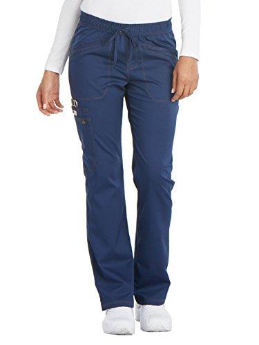 Drawstring Straight Leg Pant - Dickies Women's Essense Mid Rise Straight Leg Drawstring Pant, Navy, Small