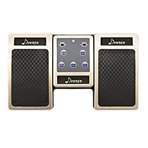 Donner Bluetooth Page Turner Pedal for Tablets Ipad Rechargeable, Golden