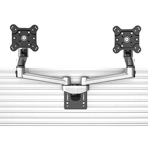 Cotytech Dual VESA Mount for Slatwall w/Quick Release Dual Arm