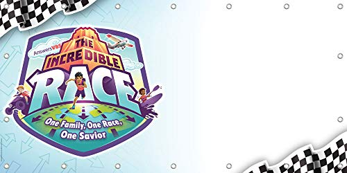 Outdoor Vinyl Banner - The Incredible Race VBS by Answers