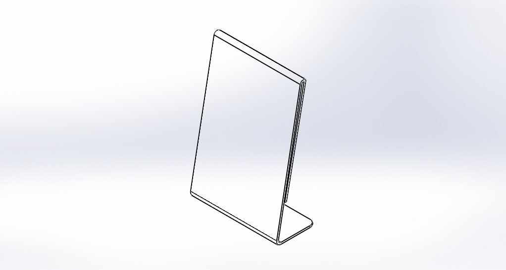 Clear-Ad - LHA-46 - Acrylic Slanted Sign Holder 4x6 - Plexiglass Table Menu Card Display Stand - Plastic Picture Frame Wholesale (Pack of 100) by Clear-Ad (Image #5)
