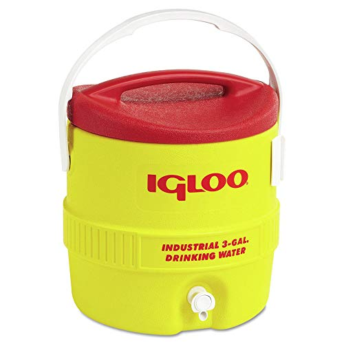 400 Series Coolers - 3gal red/yellow coolerplastic ind