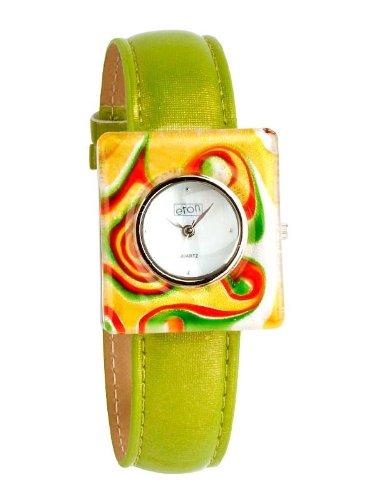 eton 2777-L – Reloj de mujer de cuarzo, correa de plástico color verde