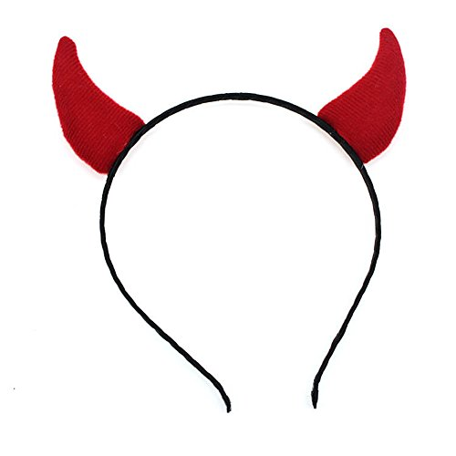 Beistle 60773 Devil Horns Red Fabric