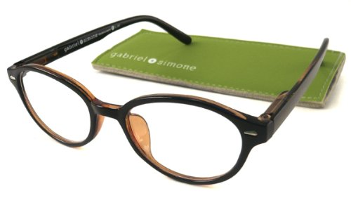 Gabriel + Simone Women's 'Mademoiselle' Round Black Reading Glasses (Mademoiselle Four Light)