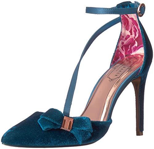 Ted Baker Women's JULETA Pump, Blue Velvet, 6 Medium US (Ted Baker Blue Shoes)