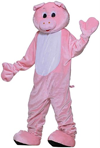 Mascot Costumes Economy (Pig Plush Economy Mascot Adult)