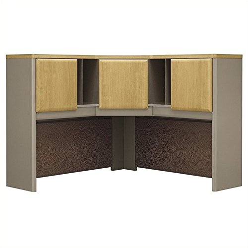Bush Business Furniture Series A Collection 48W Corner Hutch in Light Oak