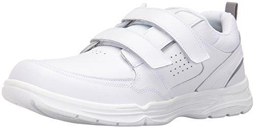 White Leather Strap Sandal (Rockport Men's State-O-Motion Velcro Strap Flat Sandal, White Leather, 10 M US)