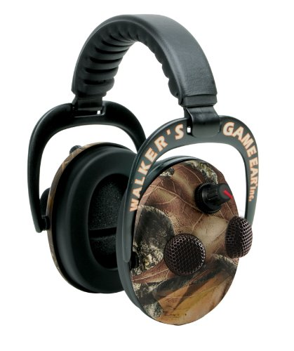Walker's Game Ear Power Muff Electric Quads with AFT (Moss Oak) (Quad Power Muffs Walkers)