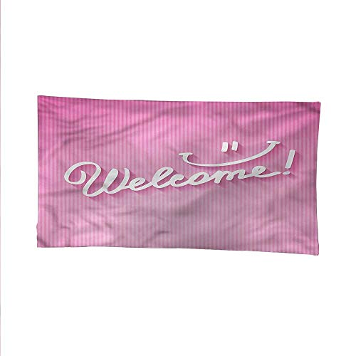 Welcome Phrases Mini - Blushoutdoor tapestryceiling tapestryCalligraphic Phrase Welcome 84W x 54L Inch