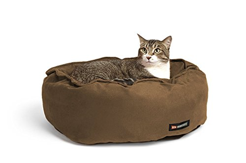 Big Shrimpy Catalina Classic Pet Bed for Cats and Small Dogs, Medium, Walnut