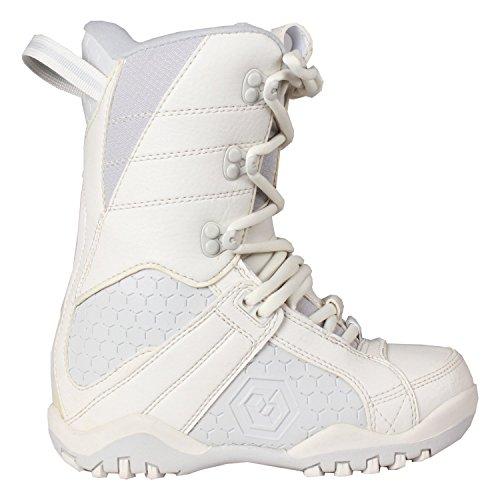 LTD Classic Girl's Snowboard Boots White/Grey 6