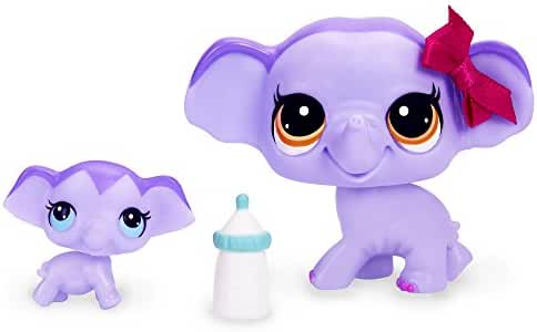 Littlest Pet Shop Elephant and Baby Elephant Figure Set